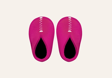 Baby Slipper Bright Pink