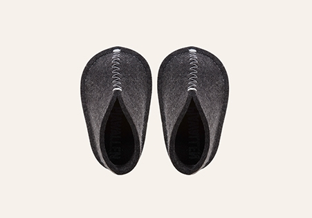 Baby Slipper Darkgrey/Melange