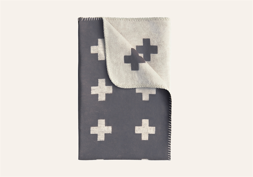 Cross Blanket grey