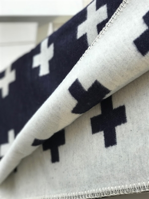 Cross Blanket Midnight Blue